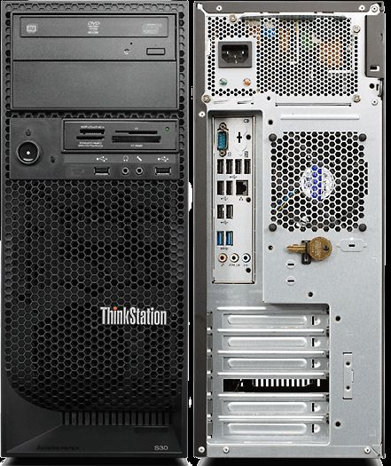 Lenovo Think Station S30  Xeon E5-1620 V2  3.7 Ghz 16GB HDD 600GB SAS DVD/RW Quadro K2000 Win7 Pro - L0705181